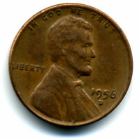 1956 D WHEAT CENT 1 CENT KEY DATE US CIRCULATED ONE LINCOLN  COIN1423