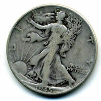 1945 P WALKING LIBERTY HALF DOLLAR KEY DATE SILVER 50 CENT FACE COIN U.S 103161