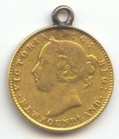 CANADA NEWFOUNDLAND 1888 $2.00 GOLD VF DETAILS LOOPED