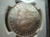 1896-S MORGAN SILVER DOLLAR NGC MINT STATE 64 AND CAC GORGEOUS  COIN