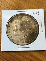 1878-P MORGAN SILVER DOLLAR - 7 TAIL FEATHERS