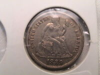 1889 LIBERTY SEATED SILVER DIME LOVE TOKEN