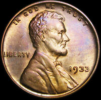 1933 LINCOLN CENT WHEAT CENT ---- GEM BU ---- B505