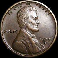 1913-D LINCOLN CENT WHEAT CENT ----  ---- B509