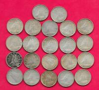LOT OF 22 CANADIAN SILVER DIMES VARIOUS YEARS