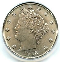 1912-S LIBERTY NICKEL, PCGS MINT STATE 65 CAC, OUTSTANDING FLASH, SOFT LILAC TONING