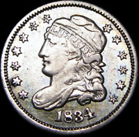 1834 CAPPED BUST HALF DIME SILVER US COIN ----   TYPE COIN ---- B899