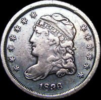1836 CAPPED BUST HALF DIME SILVER US COIN ---- TYPE COIN   ---- B901