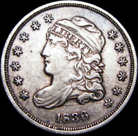 1836 CAPPED BUST HALF DIME SILVER US COIN ---- TYPE COIN   ---- B902