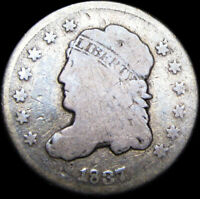 1837 SMALL 5C CAPPED BUST HALF DIME SILVER US COIN ---- TYPE COIN  ---- B903
