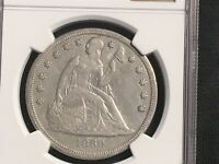 1860-O SEATED LIBERTY DOLLAR NGC EXTRA FINE  CLEANED  LIGHTLY CLEANED READY FOR A SET