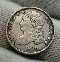 1835 CAPPED BUST DIME 10 CENTS -  COIN, SHIPS FREE  9564