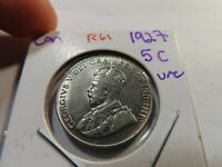 R61 CANADA 1927 5 CENTS UNC