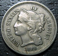 1869 DOUBLED 3 CENT NICKEL PIECE  --  MAKE US AN OFFER  O9823