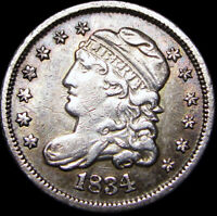 1834 CAPPED BUST HALF DIME SILVER COIN      TYPE COIN     C635
