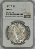 1879-O MORGAN DOLLAR $ MINT STATE 64 NGC 942887-65
