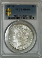 1887-S MORGAN DOLLAR $ MINT STATE 66 PCGS SECURE 942330-2