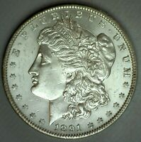 1891 MORGAN BU SILVER DOLLAR $1 US TYPE COIN UNCIRCULATED ONE DOLLAR COIN
