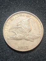 1857 FLYING EAGLE CENT   STUNNING COIN