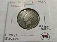 J101 GREAT BRITAIN 1827 SHILLING BETTER DATE
