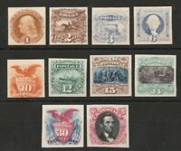 UNITED STATES : 1869 PICTORIAL SET 1C   90C IMPERF PLATE PRO
