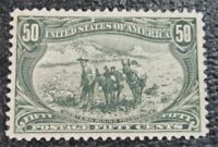 NYSTAMPS US STAMP  291 MINT OG H $600