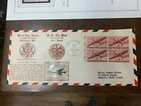 US 1947 CROABY FIRST FLIGHT COVER C28