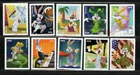 2020 NEWEST FOREVER BUGS BUNNY 80 YEARS 10 STAMPS CANCELED