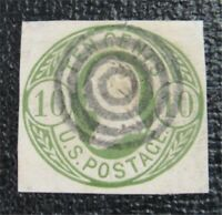 NYSTAMPS US CUT SQUARE STAMP  U40 USED $30