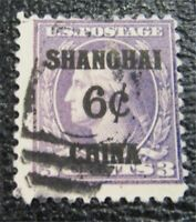 NYSTAMPS US SHANGHAI CHINA STAMP  K3 USED $140