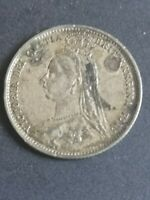 VICTORIA SMALL 1887 SILVER COIN COMMEMORATING HER GOLDEN JUB