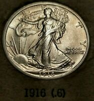 1916 WALKING LIBERTY HALF    BU      EXCEPTIONAL COIN