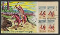 SCOTT 1187 F. REMINGTON ART FDC W/ FULL COVER HAND PAINTED R