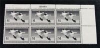 NYSTAMPS US DUCK PLATE BLOCK STAMP  RW14 MINT OG NH $340 PLA