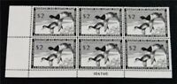 NYSTAMPS US DUCK PLATE BLOCK STAMP  RW21 MINT OG NH $550 PLA