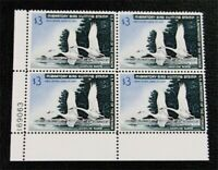 NYSTAMPS US DUCK PLATE BLOCK STAMP  RW33 MINT OG NH $500 PLA