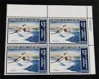 NYSTAMPS US DUCK PLATE BLOCK STAMP  RW34 MINT OG NH $550 PLA
