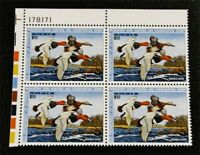 NYSTAMPS US DUCK PLATE BLOCK STAMP  RW54 MINT OG NH $60 PLAT