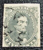 NYSTAMPS US CSA CONFEDERATE STAMP  1B USED $250