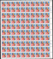 2897 FLAG OVER PORCH MNH SHEET MINOR GUM DIST IN SELVAGE CV