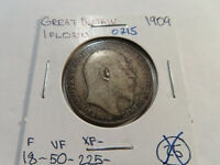 O215 GREAT BRITAIN 1909 FLORIN