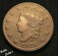 1823/22 CORONET HEAD LARGE CENT <> N 1 R2  1823/1822 ROTATED