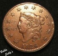 1826 CORONET HEAD LARGE CENT <> XF DETAILS