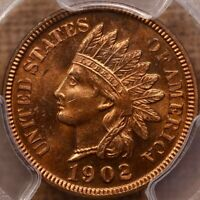 1902 INDIAN CENT PCGS PR65 RD THIS ONE SHINES LIKE A BEACON