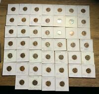 1950'S LINCOLN WHEAT CENTS - ALL BU TONED 46 COIN LOT