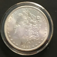 1883 CC MORGAN SILVER DOLLAR WITH VAM 5C STRIKING UNCIRCULATED