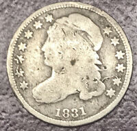 1831 CAPPED BUST 10C DIME VG/FINE/. AWESOME PIECE OF HISTORY. SILVER