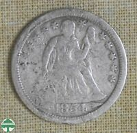 1854 O SEATED LIBERTY DIME   GOOD DETAILS