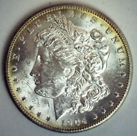 1904 O MORGAN SILVER DOLLAR COIN BU NEW ORLEANS MINTED $1 US COIN UNCIRCULATED