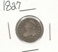 1827 CAPPED BUST DIME : FINE